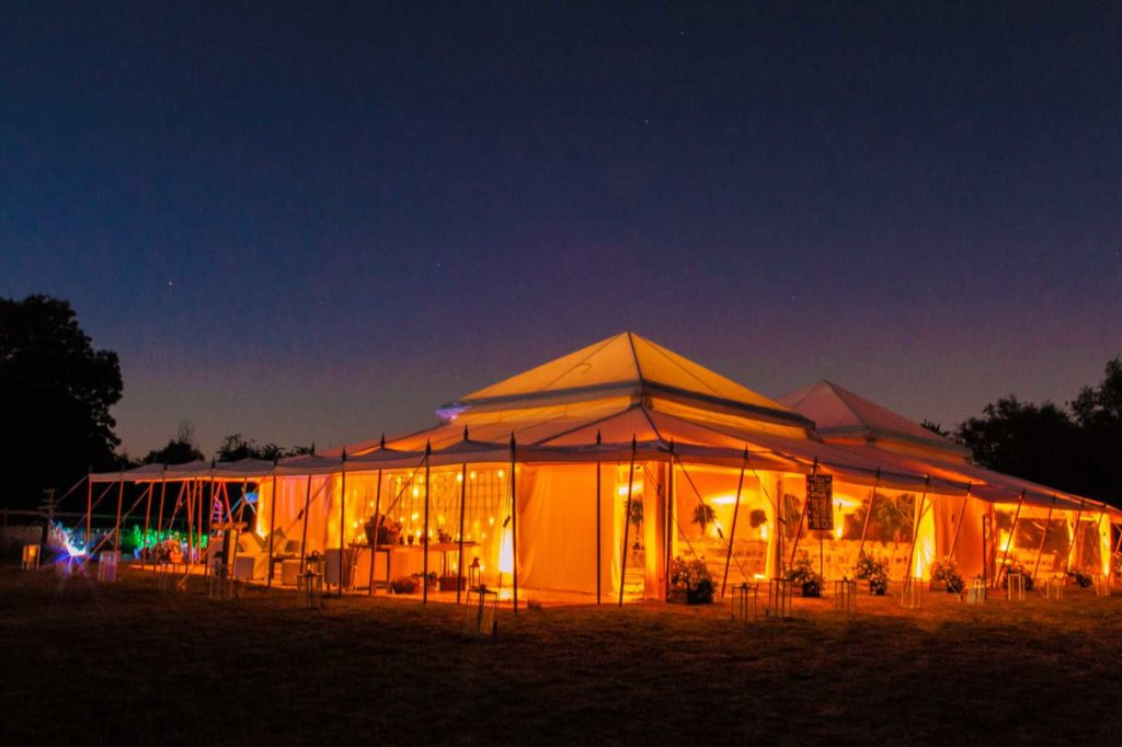 dana pearl tent night view