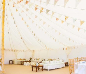 oyster pearl wedding marquee