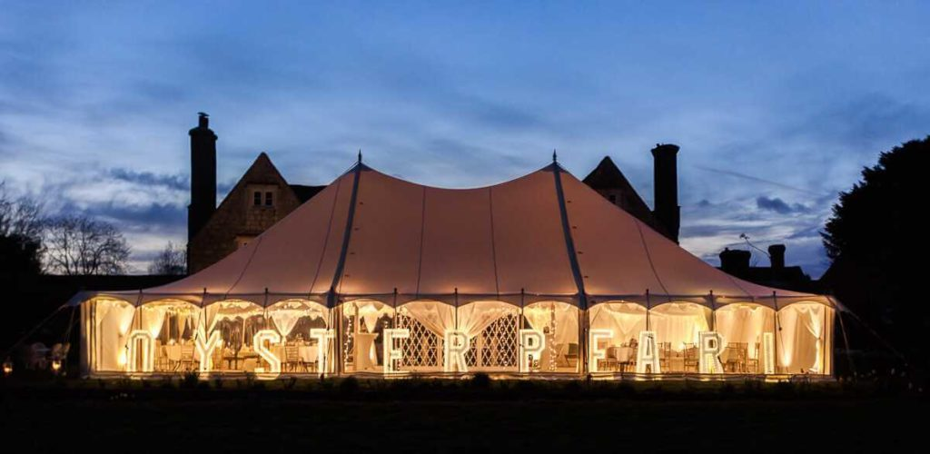 oyster pearl tent