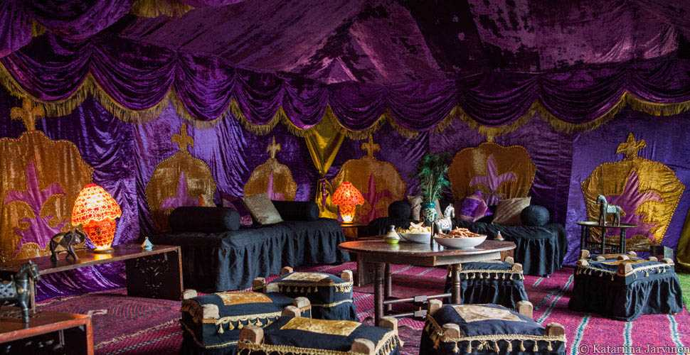 Purple palace decor