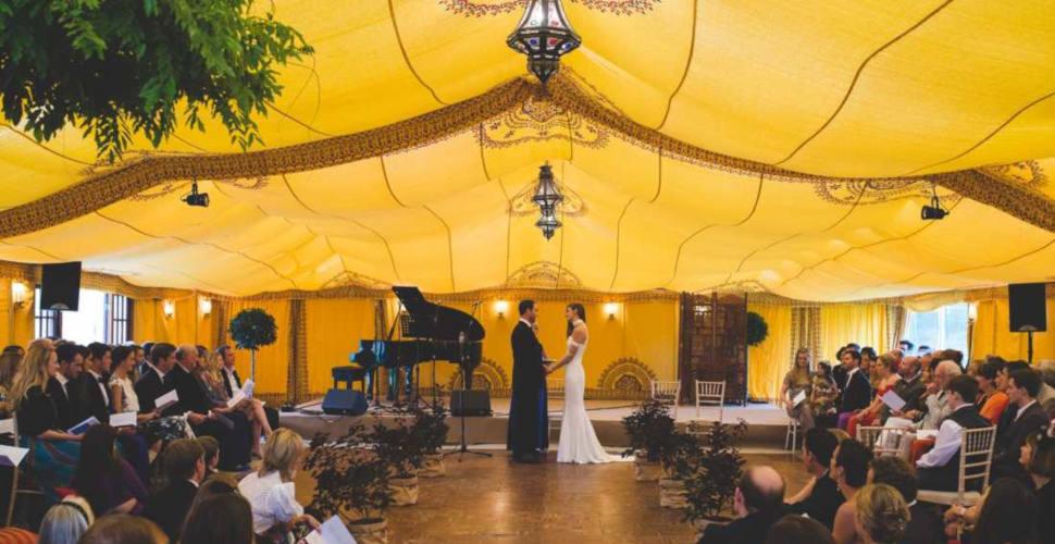 saffron wedding marquee